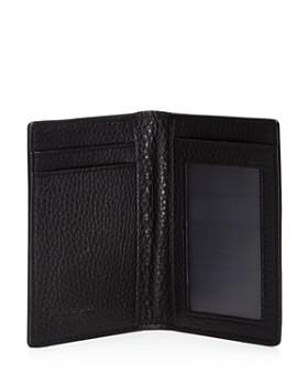 Salvatore Ferragamo - Stamped Gancini and Pebbled Leather Card Case