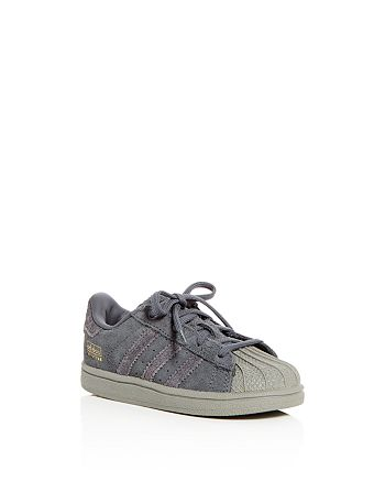 Adidas - Unisex Superstar Suede Lace Up Sneakers - Walker, Toddler