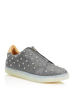 Pairs in Paris - Women's Tuilerie Studded Wool Sneakers - 100% Exclusive