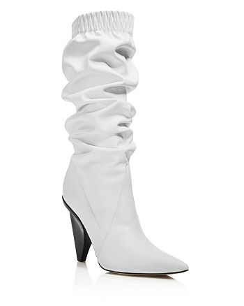 Sigerson Morrison - Women's Jay Leather Slouchy Booties