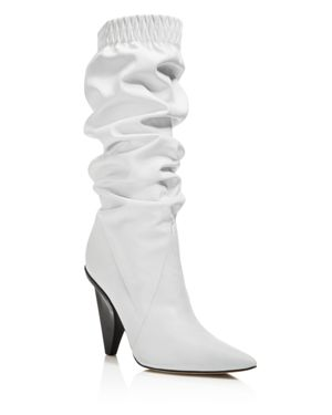 WOMEN'S JAY LEATHER SLOUCHY BOOTIES