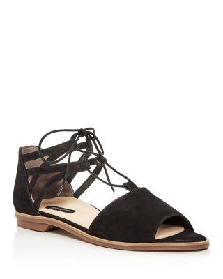 Morea Nubuck Leather Lace Up Sandals