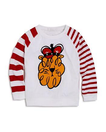 Burberry - Boys' Textured & Striped Lion Tee - Little Kid