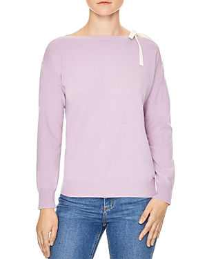 Sandro Peg Ribbon Trim Sweater