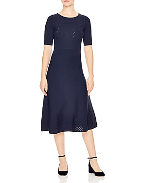 Sandro Brunella Knit Midi Dress