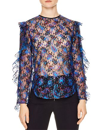 Sandro - Benate Printed Lace Top