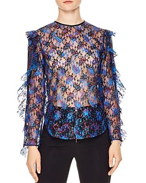 Sandro Benate Printed Lace Top