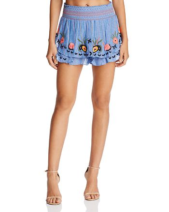 Red Carter - Barra Embroidered Shorts