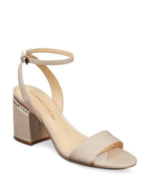 WOMEN'S ANINA PATENT LEATHER ANKLE STRAP SANDALS