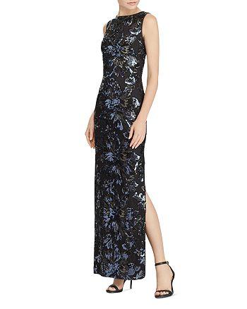 Ralph Lauren - Sequin Floral Mesh Gown