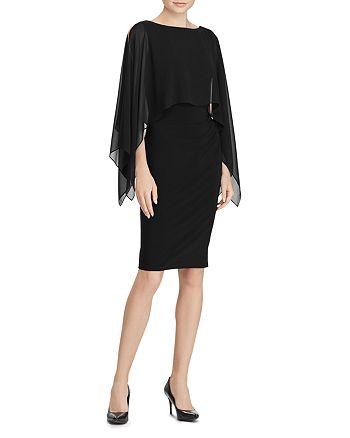 Ralph Lauren - Crepe Overlay Dress
