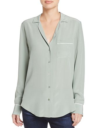 Equipment - Keira Pajama Silk Shirt