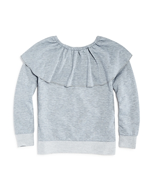 Splendid Girls French Terry RuffledNeck Sweatshirt  Big Kid