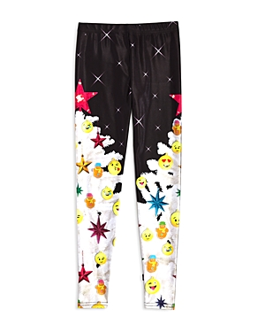 Terez Girls' Emoji Christmas Tree Leggings - Little Kid