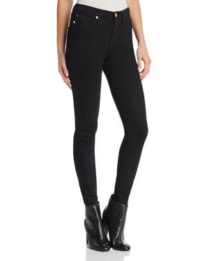 True Religion Halle High-Rise Skinny Jeans in Body Rinse Black 2757369