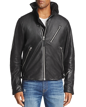 super quality picked up price reduced G-STAR RAW EMPRAL 3D LEATHER BIKER JACKET, BLACK ...