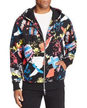 Versus Versace Doodle Zip Hooded Sweatshirt