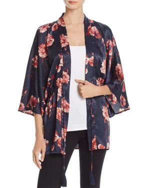 Cotton Candy La Floral Print Kimono