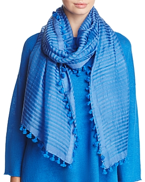 Eileen Fisher Embroidered Tassel Scarf at Bloomingdale's