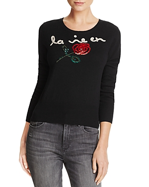 French Connection La Vie en Rose Graphic Sweater