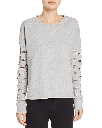 Generation Love - Xander Distressed-Sleeve Sweatshirt