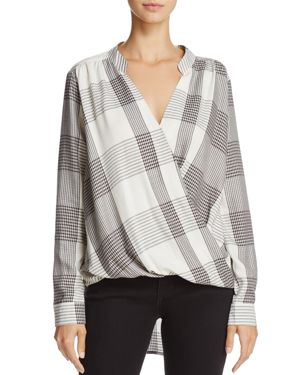 Splendid Plaid Crossover Top