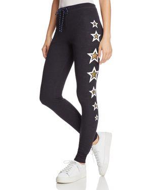 Sundry Metallic-Star Skinny Sweatpants