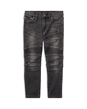 Ralph Lauren Childrenswear Boys Distressed Skinny Moto Jeans  Little Kid