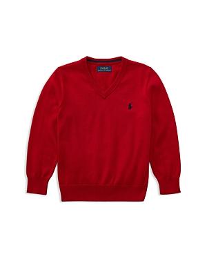 Ralph Lauren Childrenswear Boys' V-Neck Sweater - Little Kid