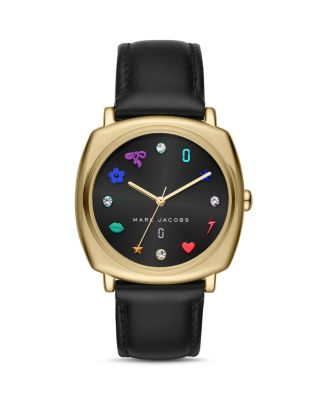 MARC BY MARC JACOBS MANDY LEATHER STRAP WATCH, 34MM