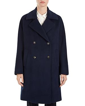 Gerard Darel Gail Double-Breasted Virgin Wool Coat