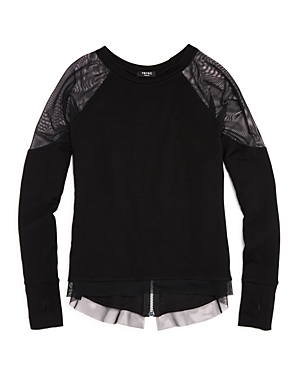 Terez Girls French Terry Sweatshirt with Zipper Detail  Big Kid