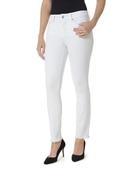 NYDJ - Sheri Slim Frayed Ankle Jeans in Optic White