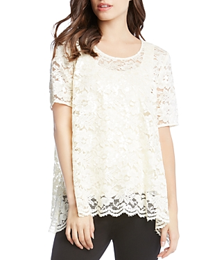 Karen Kane Sequin Lace Top