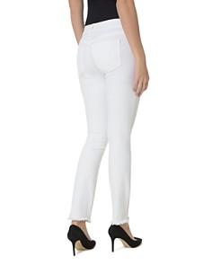 NYDJ - Sheri Slim Frayed Ankle Jeans in Optic White