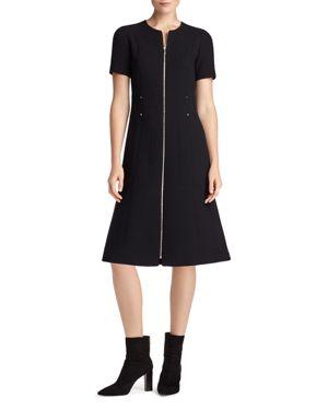 Lafayette 148 New York Sonya Zip-Front Sheath Dress