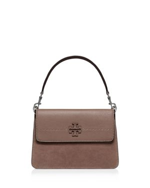 Tory Burch McGraw Leather & Suede Shoulder Bag