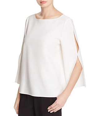 Lafayette 148 New York Candace Slit Bell Sleeve Blouse