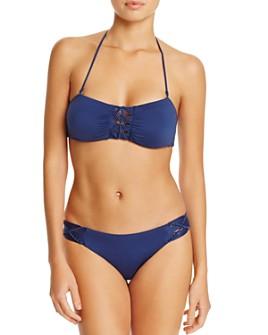 Dolce Vita - Macramé Bandeau Bikini Top & Macramé Hipster Bikini Bottom