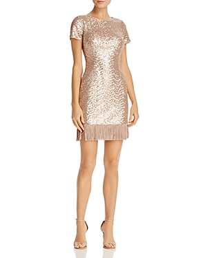 Aidan Aidan Fringe-Hem Sequin Dress