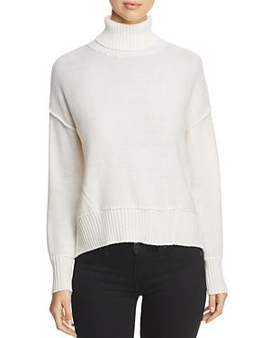 H. One Split Back Turtleneck Sweater