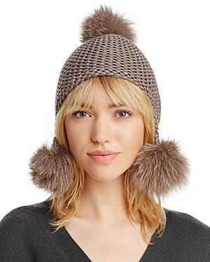 Max Mara Lecco Fox Fur Pom-Pom Hat