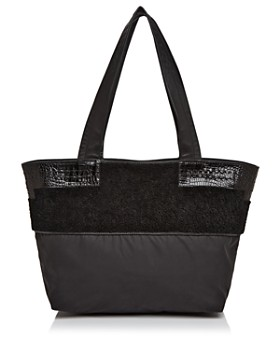 Elizabeth and James - Newspaper Shearling & Nylon Tote