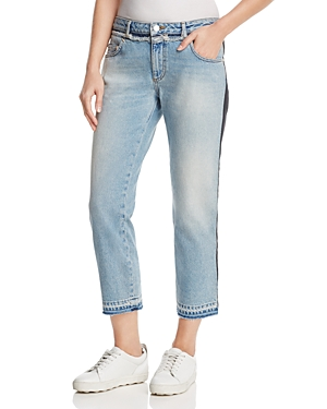 French Connection Tuxedo Mash-Up Cropped Jeans