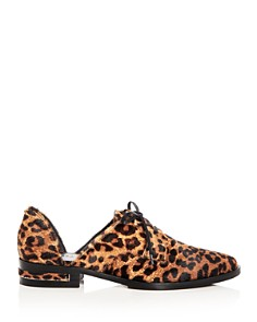 Freda Salvador - Women's Wit Leopard Print Calf Hair D'Orsay Oxfords