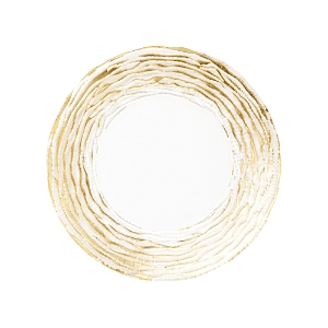 Vietri Rufolo Glass Gold Stripe Salad Plate