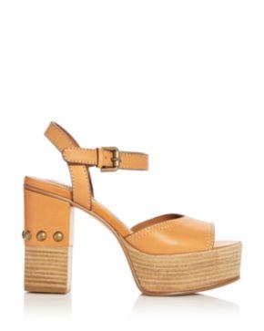 Chloé Women's Leather High-Heel Platform Sandals dgvzG2