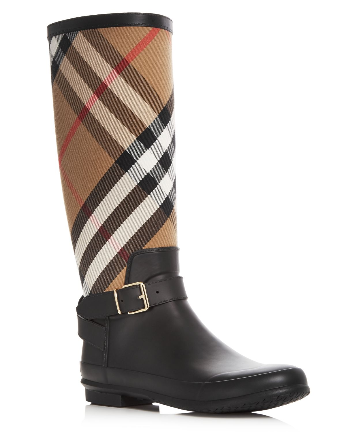 Burberry Women's Simeon Signature Check Rain Boots