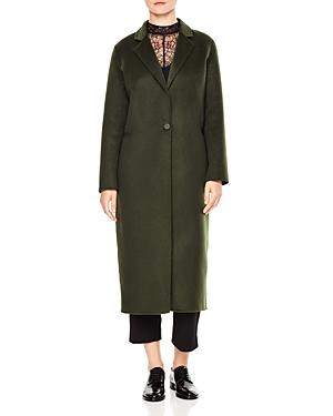 Sandro Ekin Single-Button Long-Line Coat
