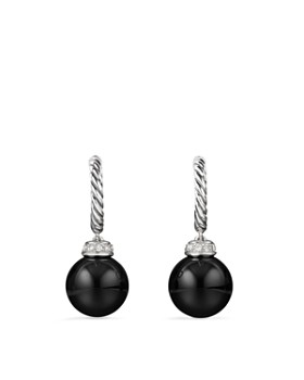 David Yurman - Solari Drop Earrings with Diamonds & Black Onyx